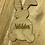 Thumbnail: Personalised Bunny Rabbit Wooden Hanging Decoration