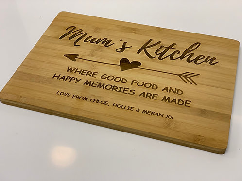 Personalised Chopping Board - Mums Kitchen
