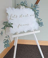Acrylic Painted Back Sign - Lets Start With Forever