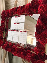 Floral Mirror Table Plan - Red