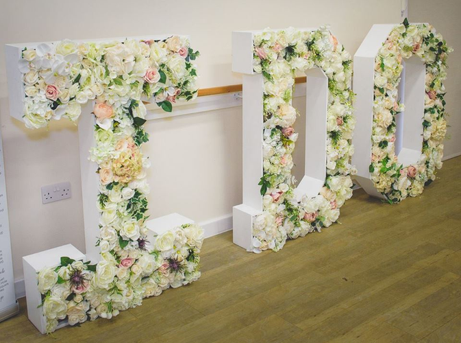 Floral I DO Letters