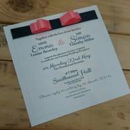 Flat Wedding Stationery Card