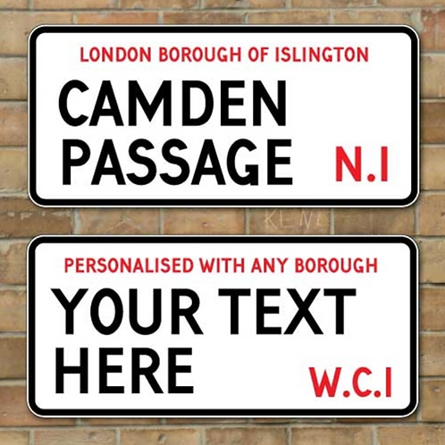 Personalised London Style Street Sign