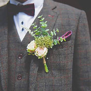Hire of Artificial Groom Buttonhole