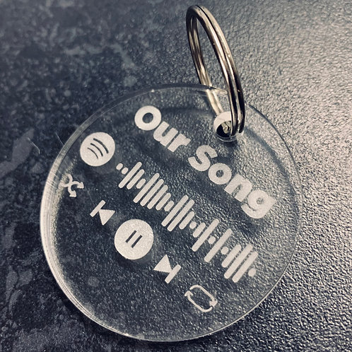 Personalised Spotify Song or Spotify Playlist Acrylic Keyring