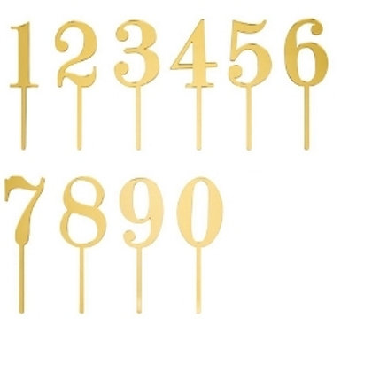 Mirror Acrylic Table Numbers 1-20