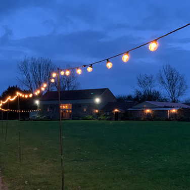 Pentney Abbey Festoon Lights