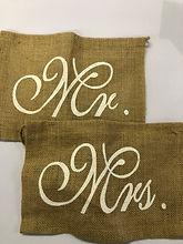 "Hessian ""Mr & Mrs"" Bunting"