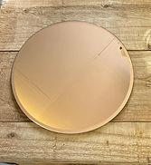 Copper Mirror Plate 25cm