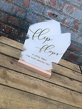 "Acrylic ""Flip Flop"" Sign"