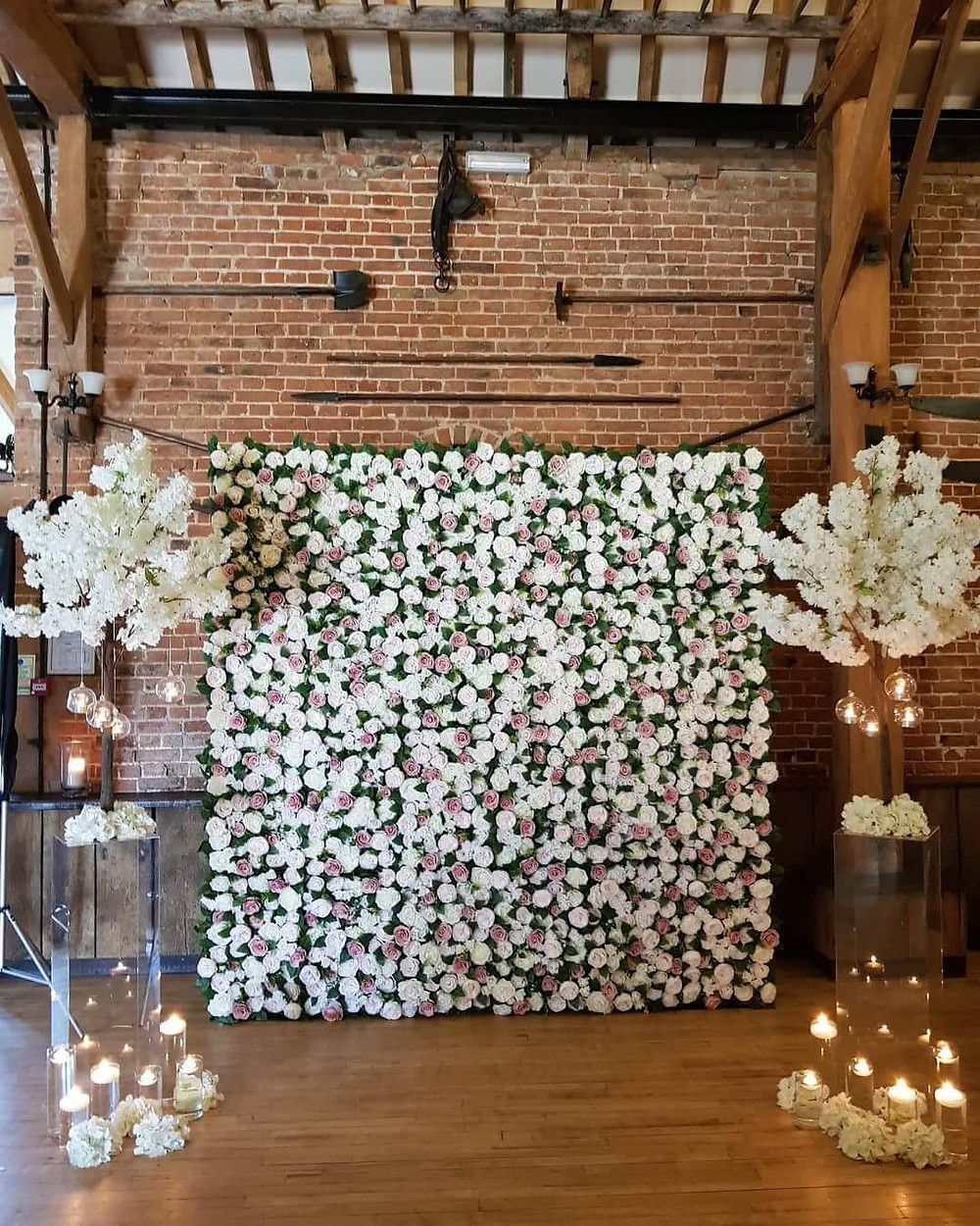 Flower Wall Wedding Ceremony Backdrop