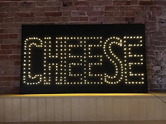 Large Black Light Up Cheese Sign
