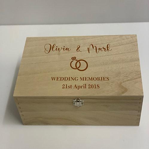 Personalised Keepsake Box - Wedding
