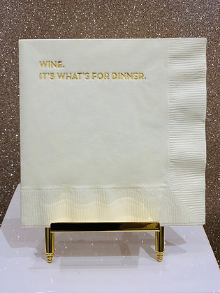 Wine for Dinner Cocktail Napkins