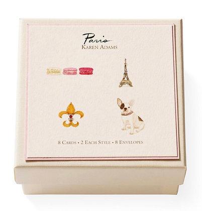 """Karen Adams """"Paris"""" Note and Gift Enclosure Cards"""