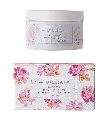 Lollia Peony and White Lily Cocoa Body Butter