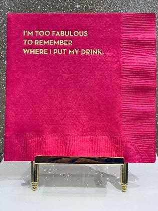 Too Fabulous Cocktail Napkins