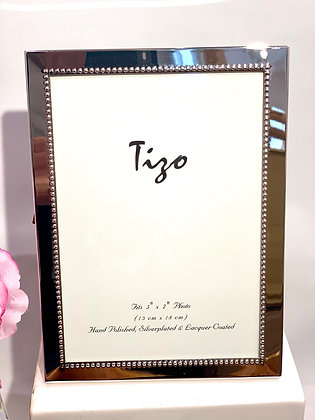 Dotted Edge Silver Frame