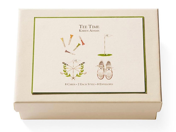 "Karen Adams ""Tee Time"" Note and Gift Enclosure Cards"