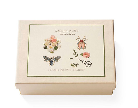 "Karen Adams ""Garden Party"" Note and Gift Enclosure Cards"
