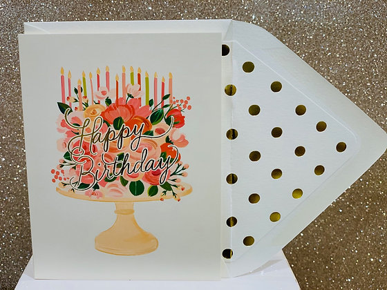 Happy Birthday Floral Cake