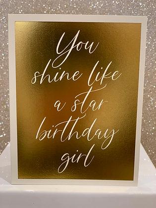 Shining Star Birthday Girl
