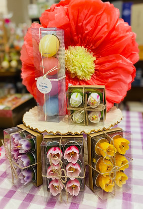 Springtime Themed Floral Tealight Candles