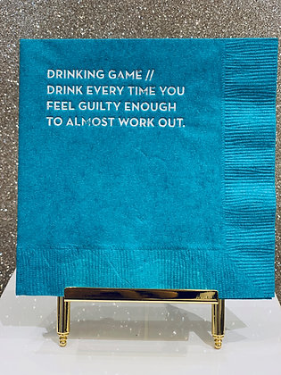 Drinking Game Cocktail Napkins