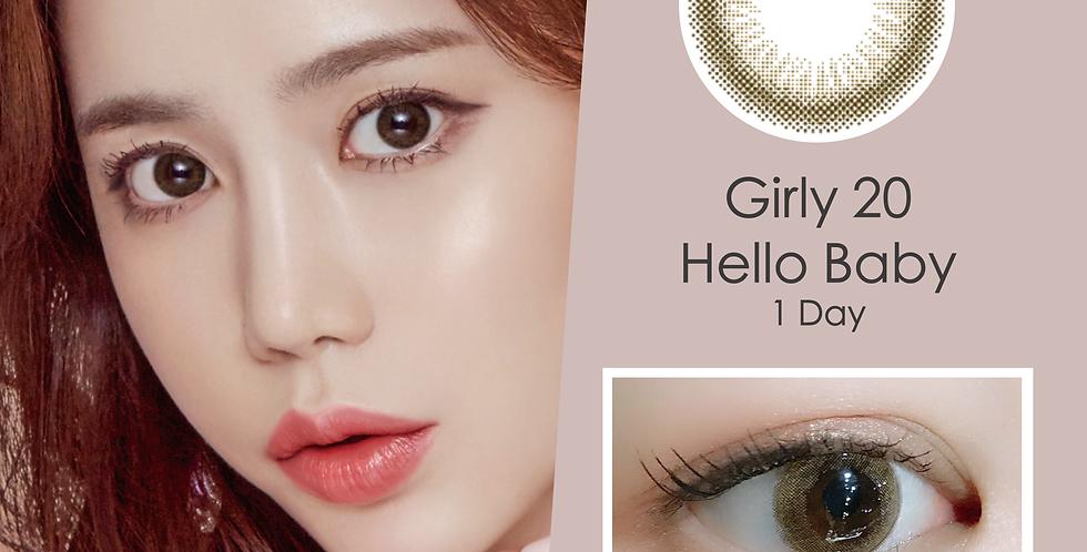 Girly 20 Hello Baby 啡色 日抛( 一盒10片)