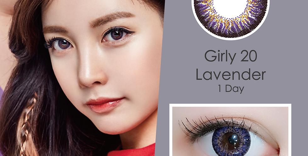 Girly 20 Lavender 紫色 日抛( 一盒10片)