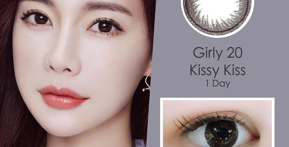 Girly 20 Kissy Kiss 朱古力色 日抛( 一盒10片)