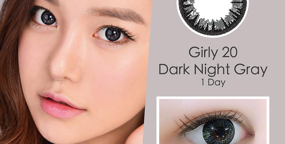 Girly 20 Dark Night Gray 灰色 日抛( 一盒10片)