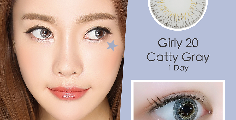Girly 20 Catty Gray 灰色 日抛( 一盒10片)