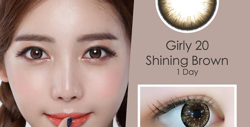 Girly 20 Shining Brown 啡色 日抛( 一盒10片)
