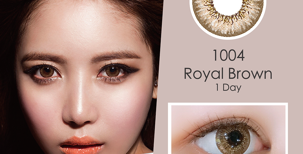 1004 천사 Royal Brown 啡色 日抛( 一盒10片)