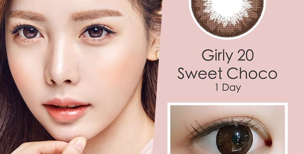 Girly 20 Sweet Choco 朱古力色 日抛( 一盒10片)