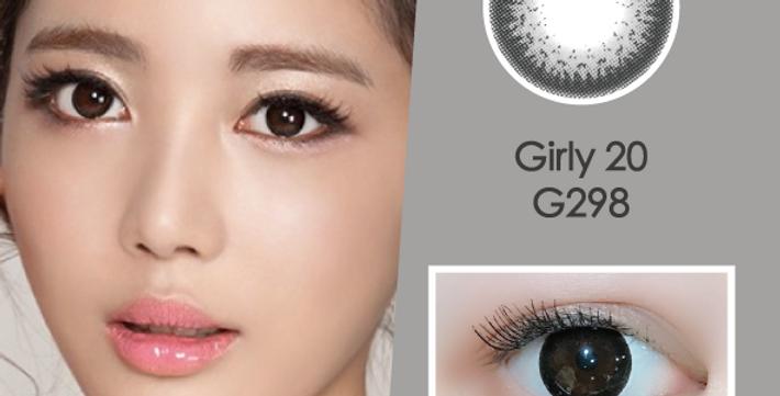 Girly 20 G298 灰黑色 月抛