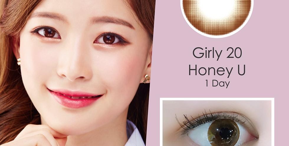 Girly 20 Honey U 啡色 日抛( 一盒10片)