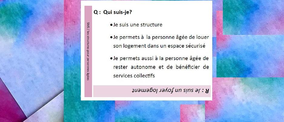 SMS : Les structures pour personnes âgées