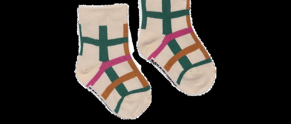 Bobo Choses - Green Checkered Baby Socks