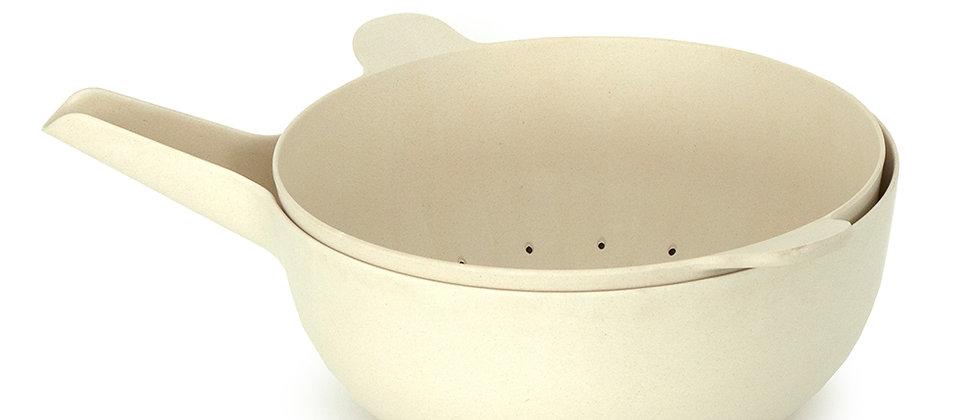 Bamboo Large Mixing Bowl & Colander Set