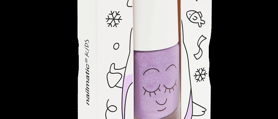 Water-based nail polish for kids - Piglou - lilac glitter