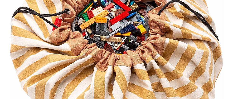 Play & Go Stripes Mustard toy storage bag