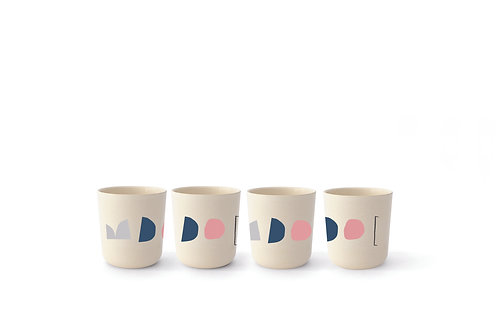 Color Series Medium Cup Set Of 4