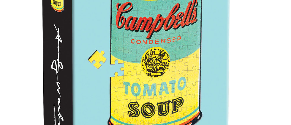 Andy Warhol Mini Shaped Puzzle Campbell's Soup