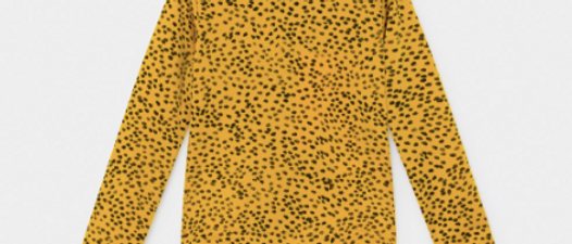 All Over Leopard Print Swim Top