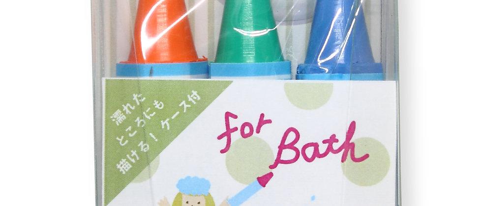 Kitpas - set of 3 colour markers for bath - orange, green, blue
