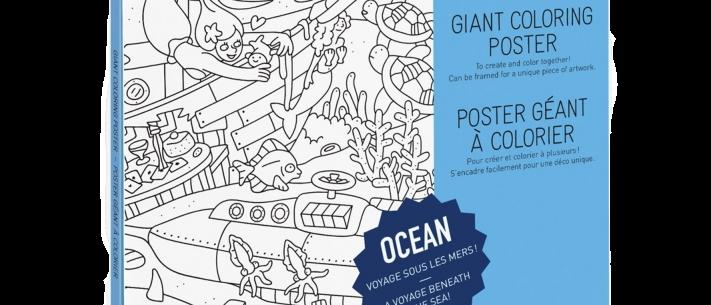 OMY - Coloring Poster OCEAN