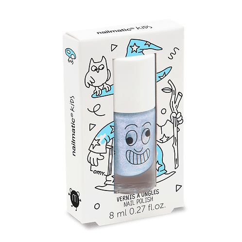 Water-based nail-polish for kids - Merlin - pearly Blue