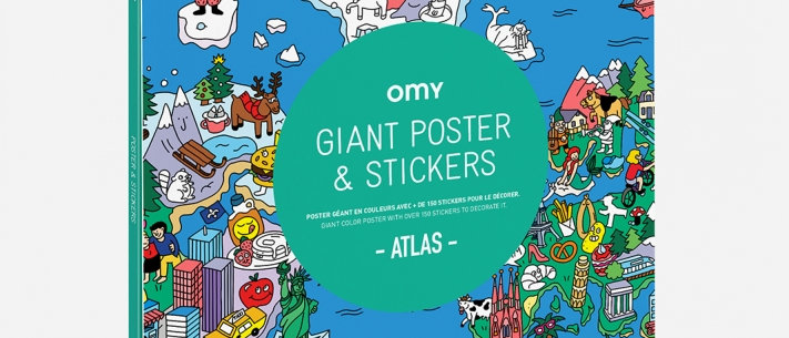OMY - Giant Poster and Stickers - Atlas